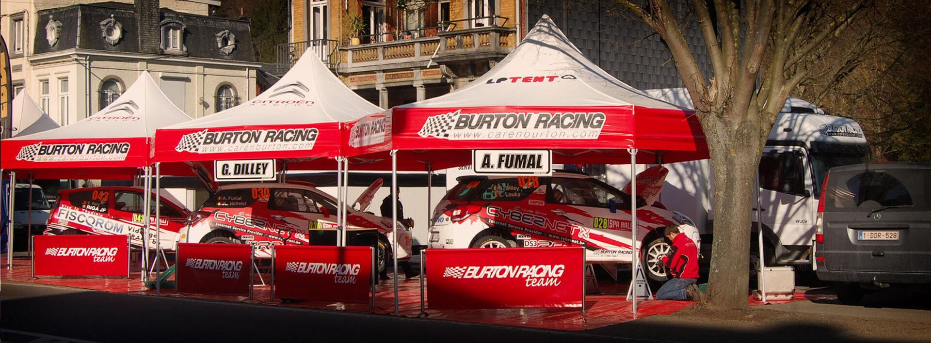 Tente paddock rallye