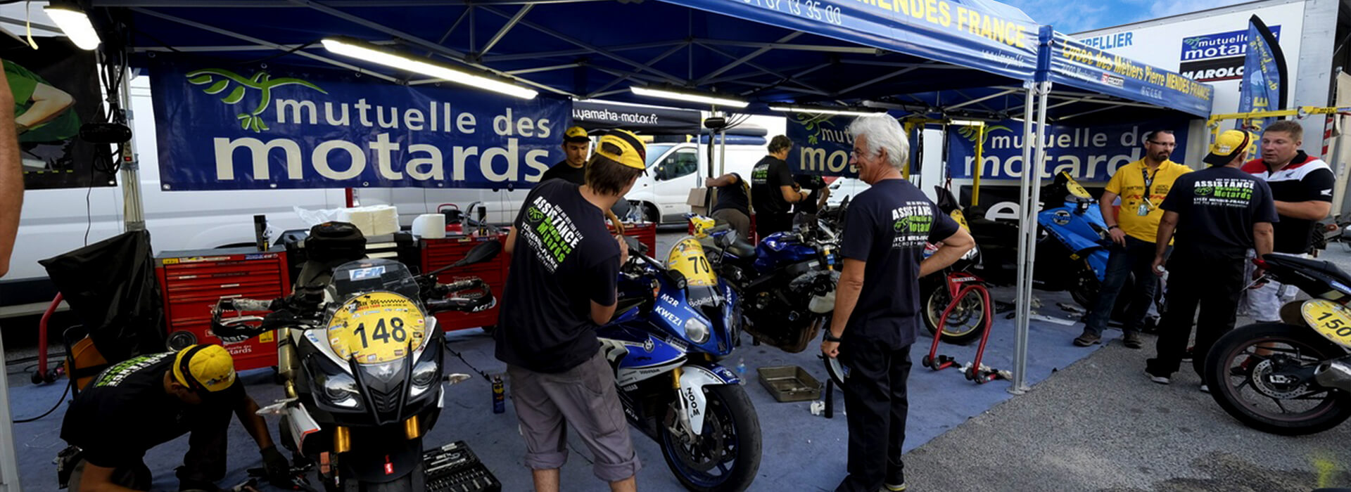 Stand paddock Moto
