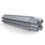 Profilé aluminium à gorges de tente pliante XP