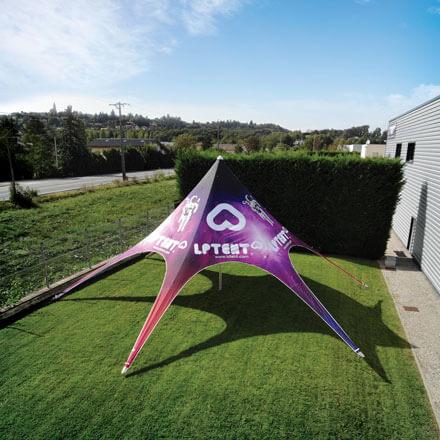 Tente étoile imprimée