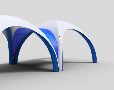 Liaison de tente gonflable