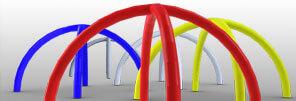 Armature de tente gonflable de couleurs