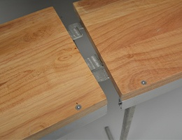 double plateau comptoir en bois