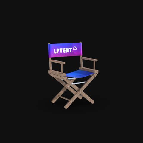 Chaise pliante imprimée