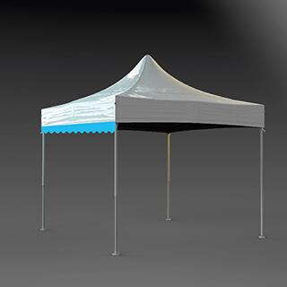 Lambrequin de toit de tente pliante