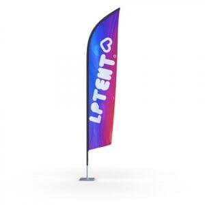Oriflamme drapeau publicitaire