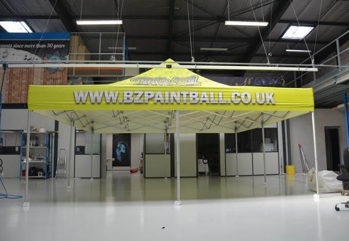 Tente pliante 6x6 imprimée BZPaintball