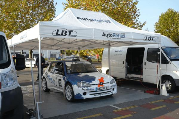Tente d'assistance rallye automobile 3x4,5m