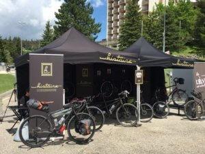 Tente pliante pub pour Histoire Bike en format 3x3