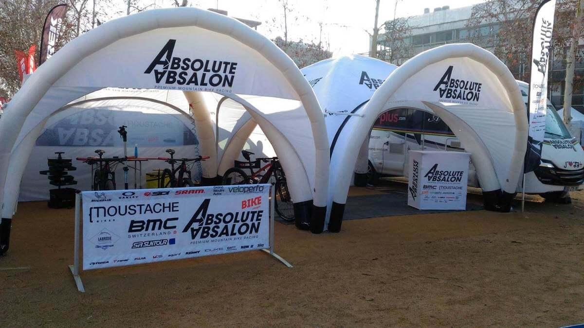 Tente gonflable pour le Team VTT Absolute Absalon