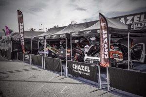 Tente paddock pliante de rallye Chazel
