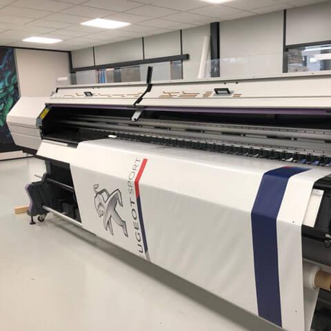 Imprimante UV pour impression Peugeot Sport