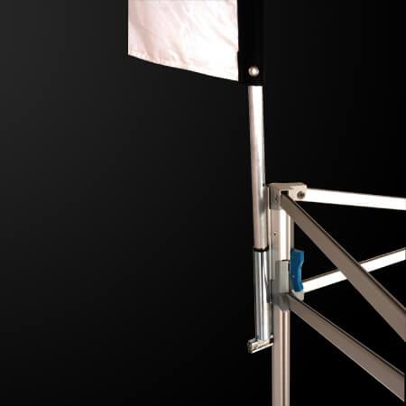 Porte drapeau oriflamme de tente pliante