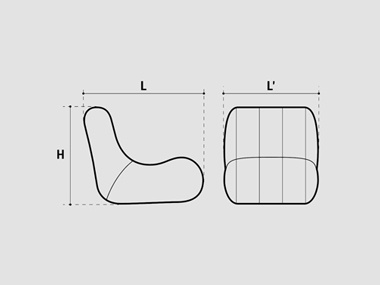 Sofa gonflable dimensions