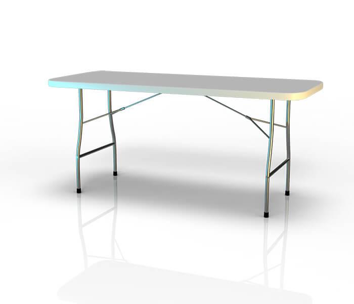 Table pliante valise 183cm pliante en son milieu