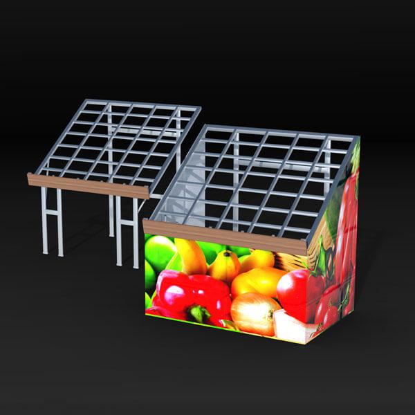 Table pliante avec plateau incliné pour maraîcher