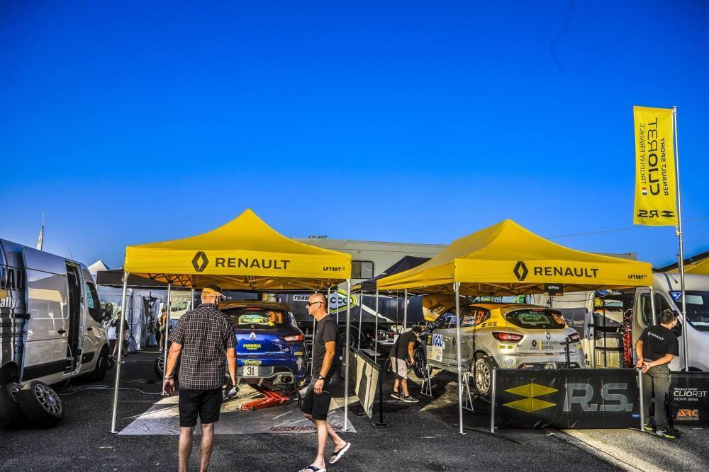Tente paddock de rallye Renault Sport 3x4,5m