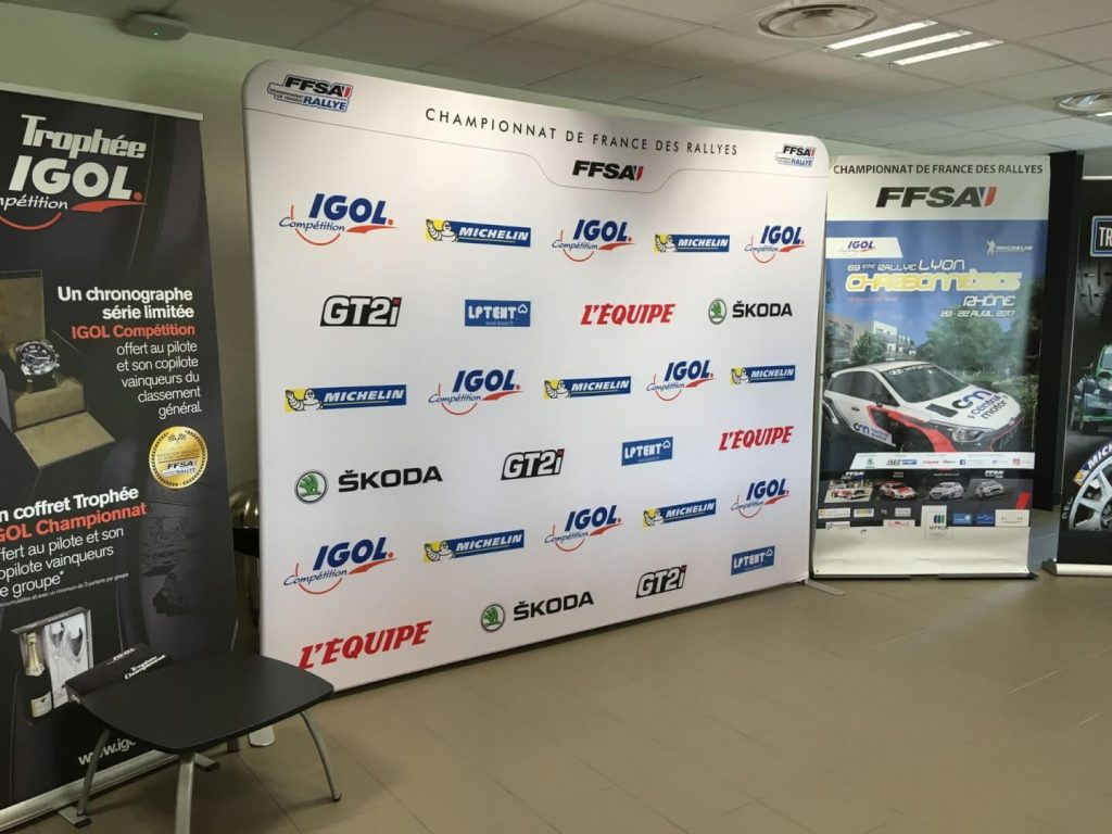 Wall of fame, roll-up, supports de communication, PLV
