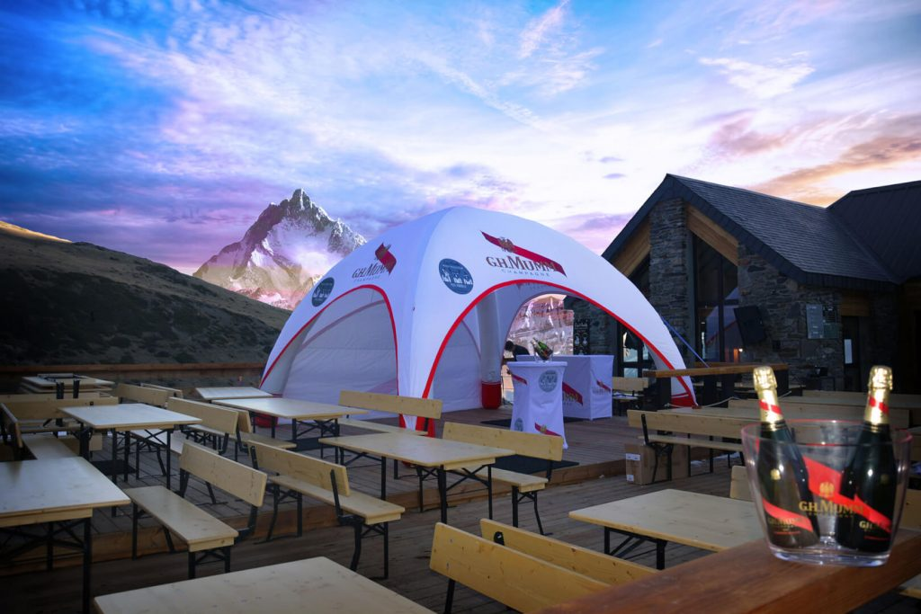 airtent gonflable champagne Mumm