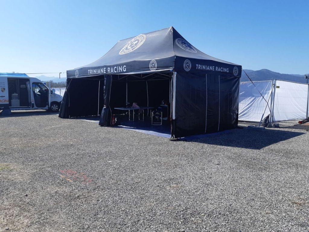 paddock de rallye 4x8m