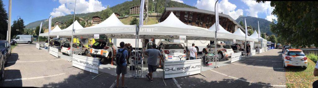 Tente pliantes paddock CHL Sport Auto Rallye