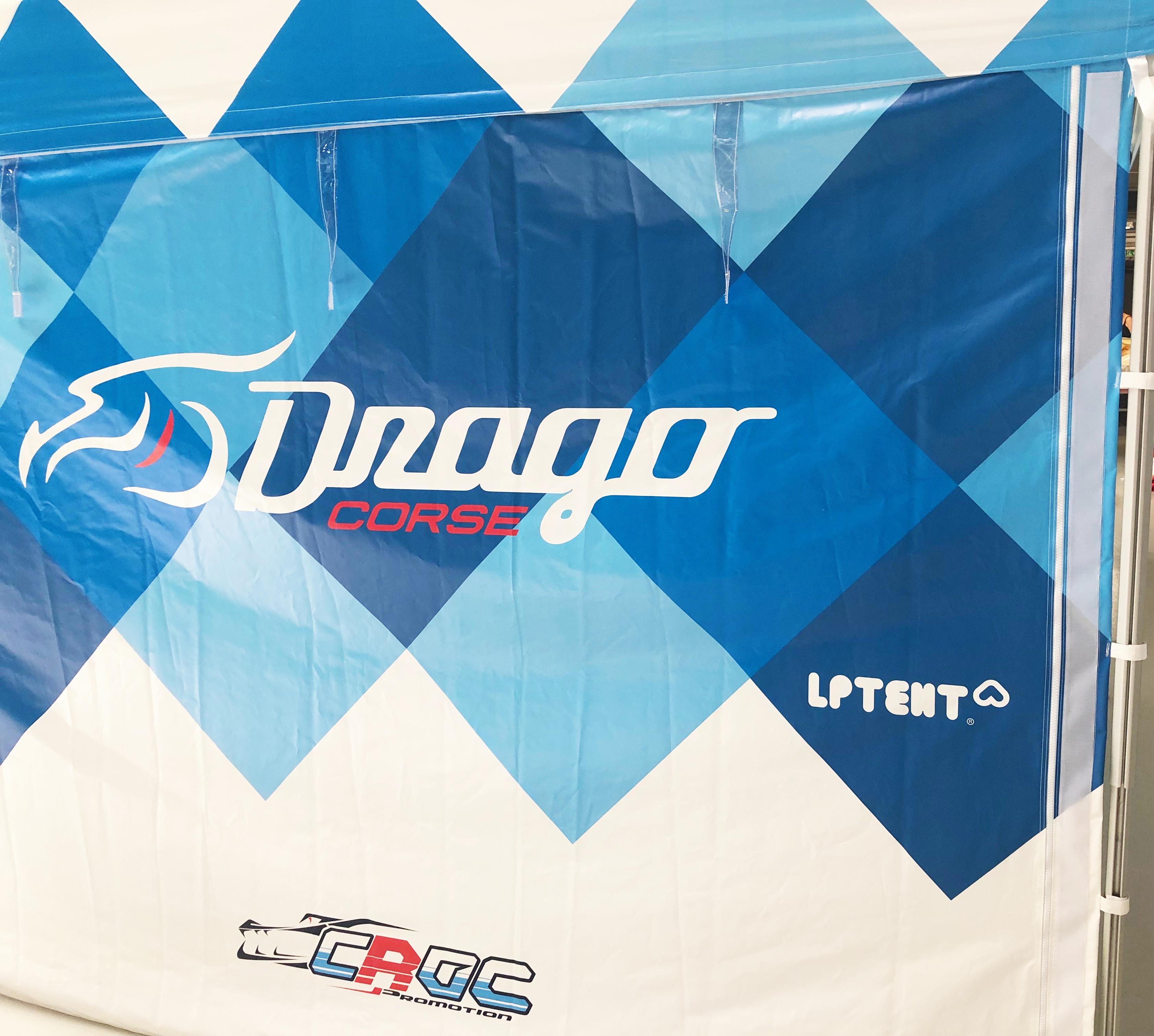 Mur paddock de course Drago Corse