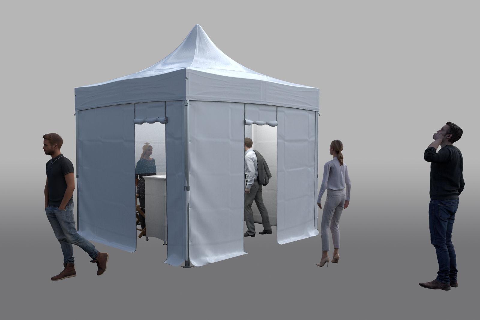 Tente pliante extérieure pour EHPAD