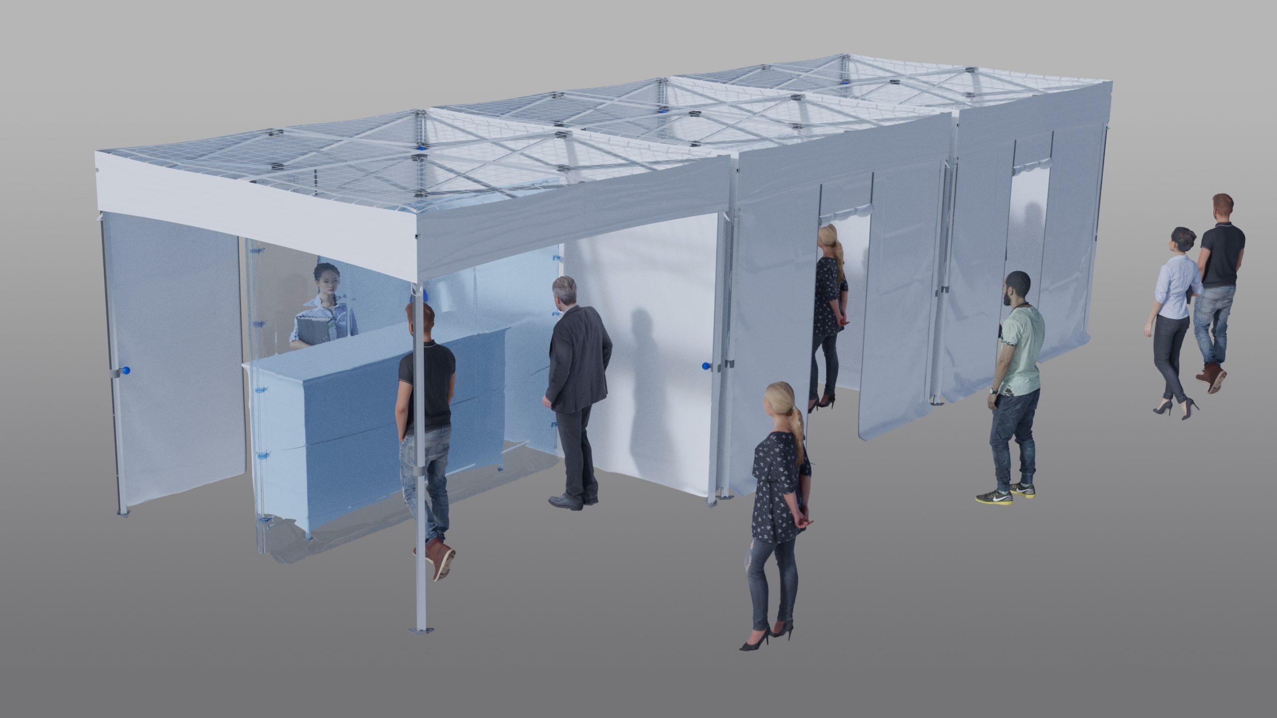 Tente indoor parloir pour EHPAD