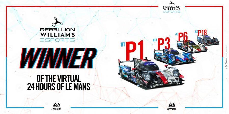 Rebellion Williams vainqueur des 24h du Mans virtuelles