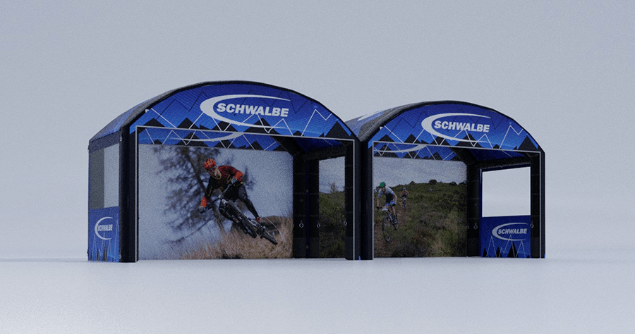 Airbuzz stand  gonflable 3D Schwalbe