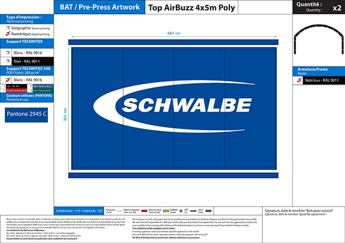 BAT toit stand modulable airbuzz Schwalbe