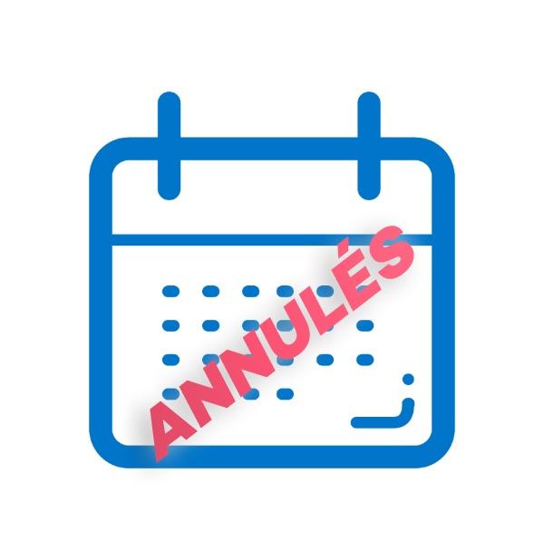 Calendrier événements annulés