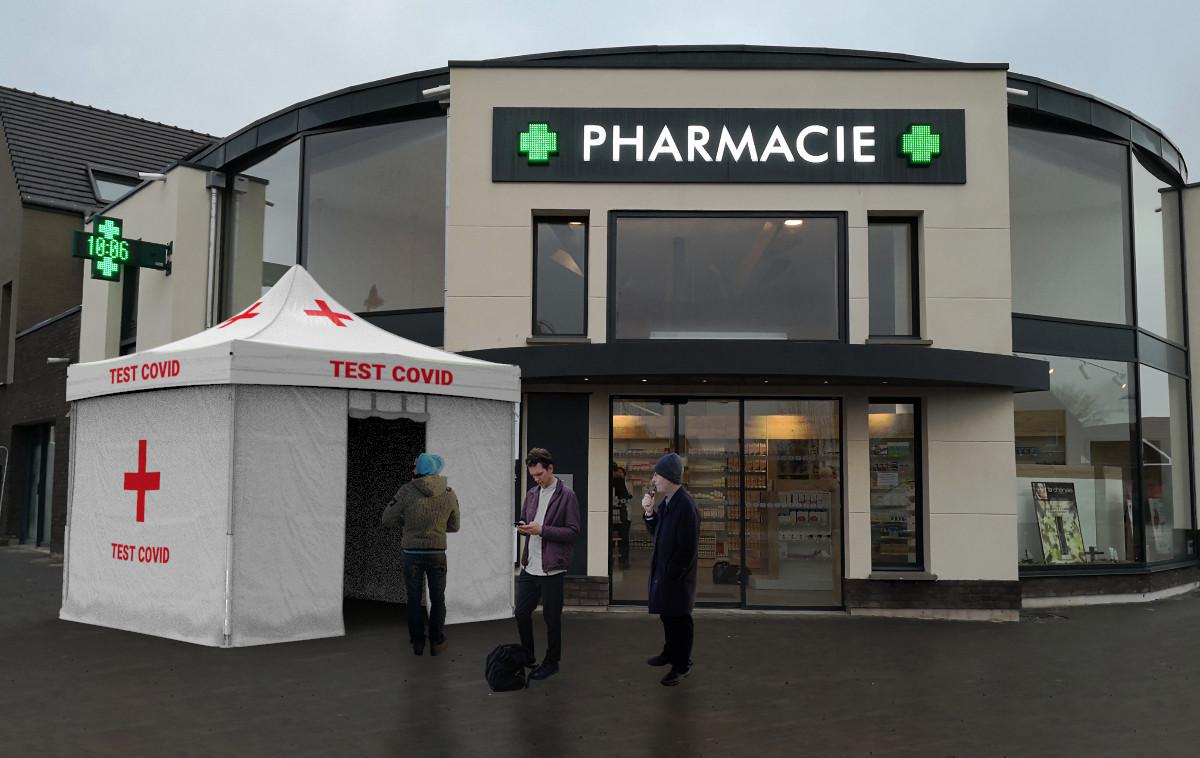 Tente pliante barnum pliant pour les pharmacie test covid