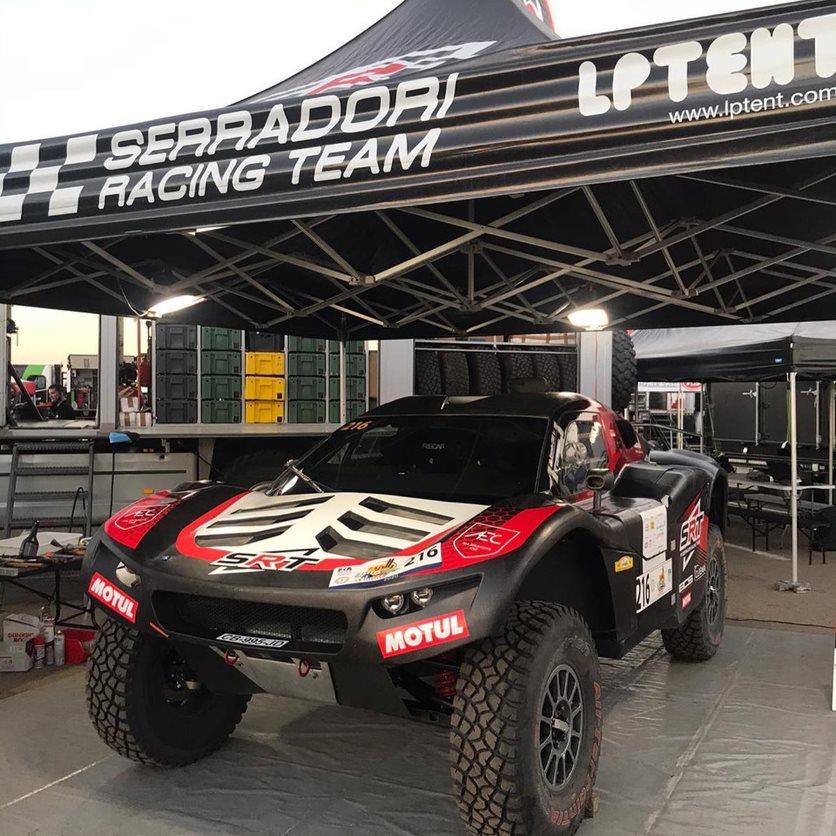 Serradori Racing team LPTENT paddocks rallye pliant