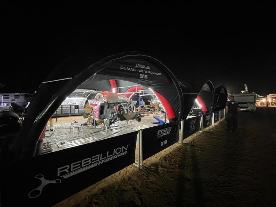 Tente gonflable pour le Dakar 2021 chez Rebellion