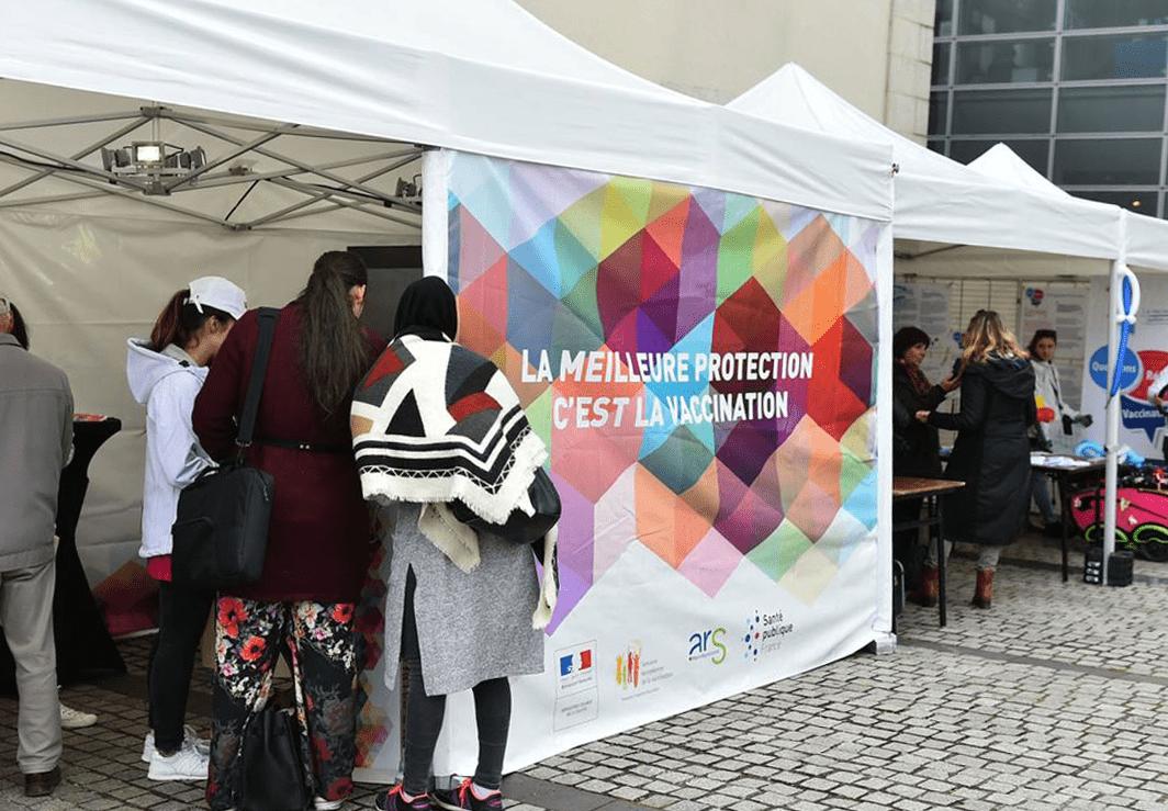 Tente pour vaccin ville-limoges