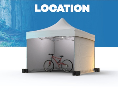 Location de tente pliante et stand pour Vélo En Grand