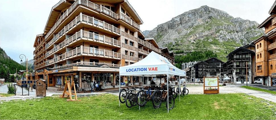 Intersport Val d'Isère tente location VTT