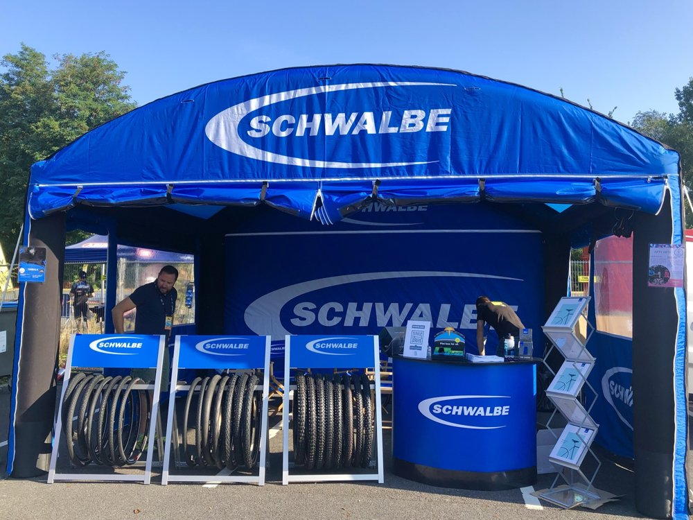 Stand gonflable pour Schwalbe VEG 2021
