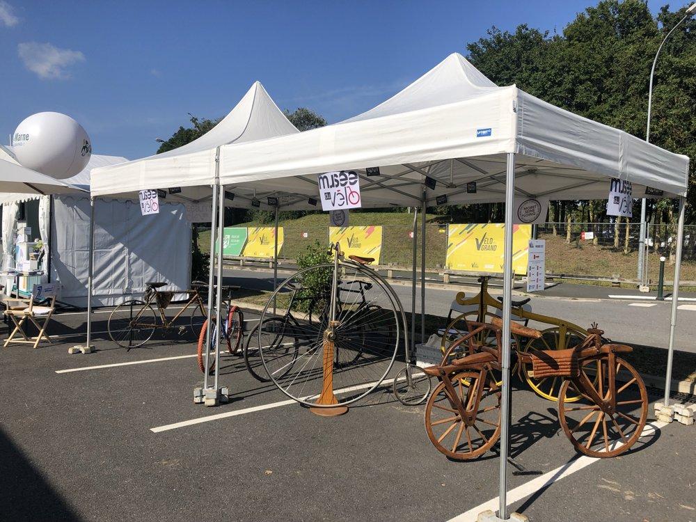 Tente pliante musée du vélo VEG 2021