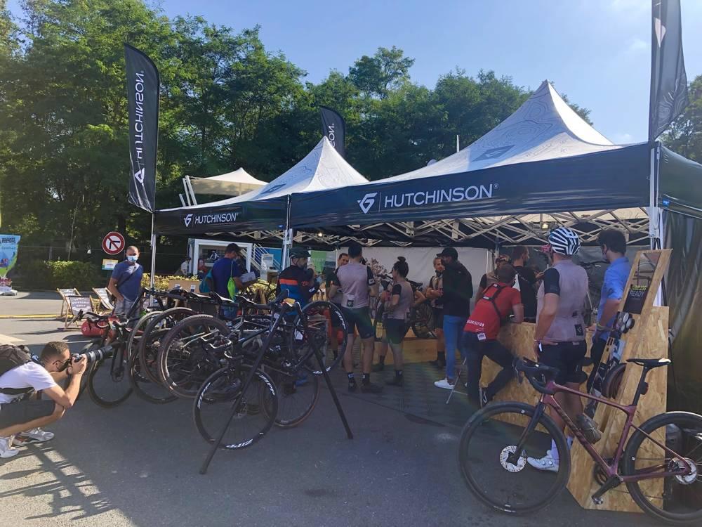 Stand événementiel personnalisé vélo Hutchinson